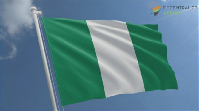 Nigerian waving flag